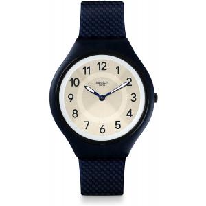 Swatch Unisex Digital Quartz Watch with Silicone Strap SVUN101