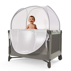 Nahbou Baby Crib Tent - Pack 'n Play: Net Cover Crib Tent To Keep Baby From Climbing Out And Safety Crib Tent To Keep Cats Out. Popup Crib Net And Crib Cover Protects Against Mosquito Bites and Toddlers