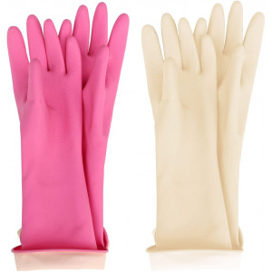 MJ Kids Waterproof Household Natural Rubber Latex Cleaning Wash Gloves