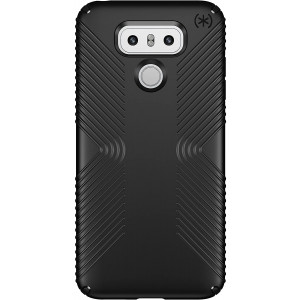Speck Products Presidio Grip Cell Phone Case for LG G6 - Black/Black