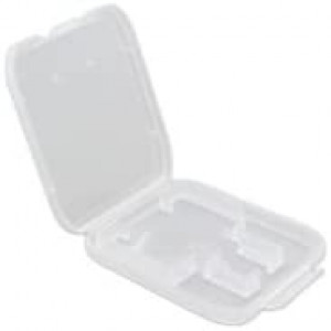 eTECH Collection 50 Pack of Clear Plastic SD/SDHC/SDXC/MicroSD/MicroSDHC/MicroSDXC Memory Card Case Holder for SanDisk/Kingston/Transcend/Samsung Memory Card (Case Only, Memory Card Not Included)