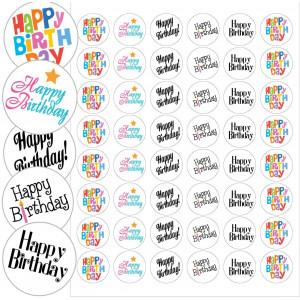 "Happy Birthday Envelope Seals - 1.2"" Happy Birthday Stickers - 144 Stickers"