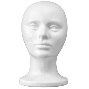 10.5'' Inch Styrofoam Foam Wig Head Mannequins mannequin head, Style, Model and Display Women's Wigs, Hats and Hairpieces Stand Manikin Display Head - by Adolfo Designs