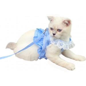 Creation Core Breathable Cat Lace Dress Harness with Matching Lead Leash Set