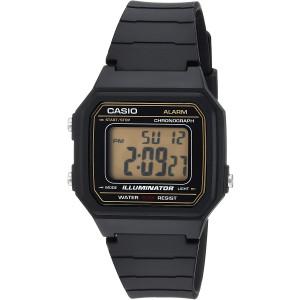 Casio Men's 'Classic' Quartz Resin Casual Watch, Color:Black (Model: W-217H-9AVCF)