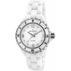 Peugeot Ceramic Wrist Watch with Sport Bezel Swarovski and Crystal Markers