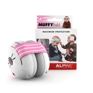 Alpine Muffy Baby Ear Protection  Baby Ear Muffs  Noise Protection for Babies and Toddlers up to 36 Months  Comfortable Infant Ear Protection - Prevent Hearing Damage and Improve Sleep, Pink