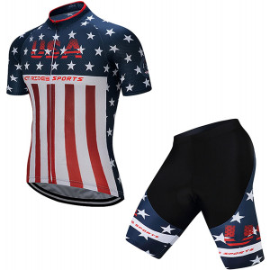 Hot Rides Men's Quick Dry Cycling Jersey and 3D Gel Padded Shorts and Bib Set