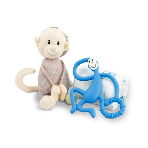 Matchstick Monkey Teething Gift Set - Blue