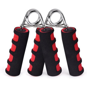 BOOMIBOO Hand Grip Strengthener, Hand Soft Foam Manual Exerciser, Rapid Increase of Wrist, Forearm and Finger Strength Exercise Equipment, 2 Pack
