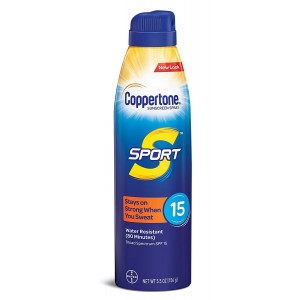 Coppertone SPORT Continuous Sunscreen Spray Broad Spectrum SPF 15 (5.5 Ounce) (Packaging may vary)