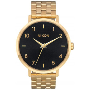 NIXON Arrow A1090-50m Water Resistant Women's Analog Classic Watch (38mm Watch Face, 17.5mm Stainless Steel Band)