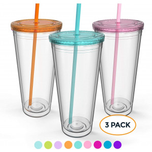 Maars Insulated Travel Tumblers 32 oz. | Double Wall Acrylic | 3 Pack
