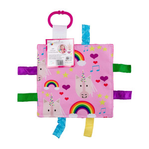 "Baby Tummy Time Toy: 8""X8"" (Unicorn and Rainbow Baby)"