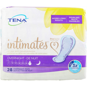 "TENA Intimates Overnight Female Incontinent Pad 16"" L Overnight 54282 28per Bag"