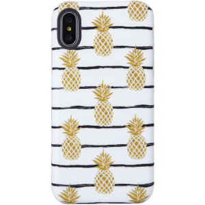 VIVIBIN Cute iPhone X XS Case for Girls,Pineapples for Women Clear Bumper Soft Silicone Rubber Matte TPU Cover Slim Fit Best Protective Thin Phone Case for iPhone X XS 5.8 inch
