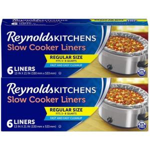 Reynolds Regular Size Slow Cooker Liner, 6 count (Pack of 2)