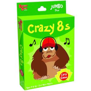 University Games 1407 Crazy 8s Card Game, Jumbo Size