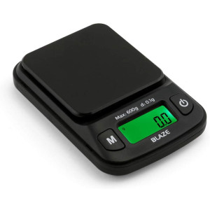 Truweigh BLAZE Digital Mini Scale (600g x 0.1g - Black) and Long Lasting Portable Grams Scale - Kitchen Scale - Food Scale - Postal Scale - Herb Scale - Pocket Scale - Small Scale