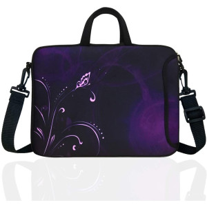"11.6-Inch Neoprene Laptop Shoulder Bag Case Sleeve for 11 11.6 12"" Chromebook (Classic Purple)"