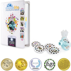 Moonlite Gift Pack - Storybook Projector for Smartphones with 5 Stories