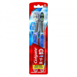Colgate 360 Total Advanced Floss-Tip Sonic Electric Toothbrush, Soft (2 count)