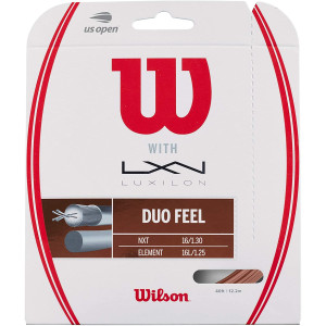Wilson Duo Feel Element 125 and NXT 16 Tennis String