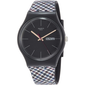 Swatch Originals Warmth Black Dial Silicone Strap Unisex Watch SUOB725