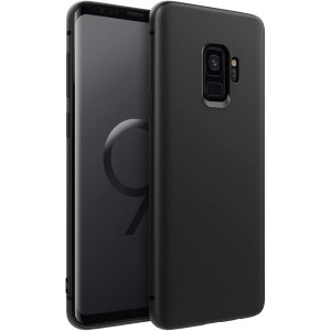"""EasyAcc Slim Case for Samsung Galaxy S9, Matte Black TPU Phone Cases Ultra Thin Fit Basic Finish Profile Back Protective Cover Compatible with Samsung Galaxy S9 5.8"""""""