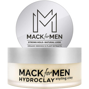 Mack for Men HydroClay - Premium Styling Hair Clay for Men (Organic Beeswax) Clay Pomade 2.5 oz