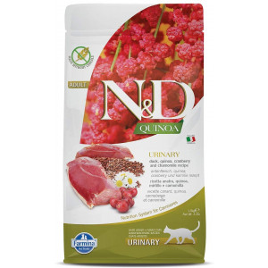 Farmina NandD Functional Quinoa Urinary Duck Cranberry and Chamomille Dry Cat Food 3.3 Pounds