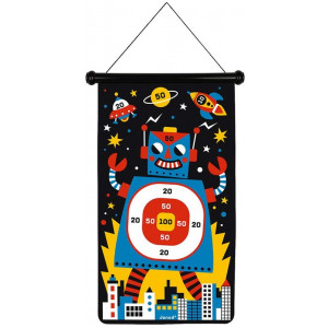 Janod J02073 Magnetic Dart Game-Robots, Multicolored