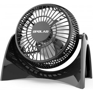 OPOLAR Super Quiet Desk USB Fan, Maximal 40db, Perfect Table Fan, Small Size, 2 Speeds, 360 Rotating Free Adjustment Personal Fan for Home,Office and Dorm-White