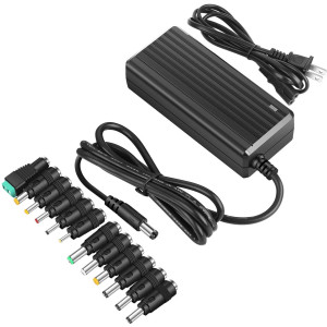 PryEU 60W Switching Power Supply 12V 5A AC to DC Charger Adapters UL Listed and Universal with Different Size Plug Connectors (for 12 Volts Devices ONLY)