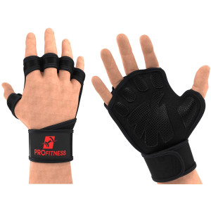 ProFitness Cross Training Gloves with Wrist Support Non-Slip Palm Silicone Padding to Avoid Calluses | for Weight Lifting, WOD, Powerlifting and Gym Workouts | Ideal for Both Men and Women
