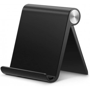 UGREEN Cell Phone Stand Holder Mobile Phone Dock Compatible for iPhone 11 Pro Max SE XS XR 8 Plus 6 7 5, Samsung Galaxy S20 S10 S9 S8 S7 S6 Android Smartphone Holder Desk Adjustable Foldable (Black)