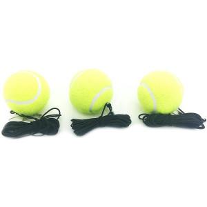 Linkin Sport Tennis Trainer Rebound Baseboard Self Tennis Training Tool Ball Back Training Gear with 2 String Balls