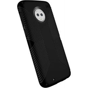 Speck Products Compatible Phone Case for Motorola Moto G6, Presidio Grip Case, Black/Black