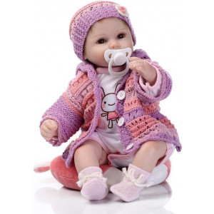 "Minidiva Reborn Baby Dolls RB082, 100% Handmade 15.7"" 40cm Realistic Baby Dolls Soft Vinyl Silicone Lifelike Newborn Doll Girls Kids Gifts / Toys, EN71 CERT"