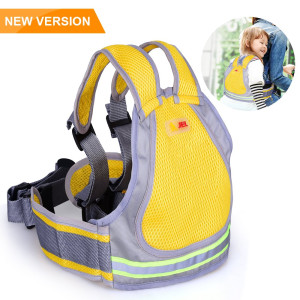 Jolik Child Motorcycle Safety Harness with 4  in  1 Buckle Breathable Material in Yellow