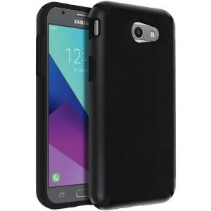 SENON Slim-fit Shockproof Anti-Scratch Anti-Fingerprint Protective Case Cover for Samsung Galaxy J3 Emerge,J3 2017,J3 Prime,J3 Mission,J3 Eclipse,J3 Luna Pro,Sol 2,Amp Prime 2,Express Prime 2,Black