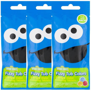 Sesame Street Fizzy Tub Colors - Up to 9 Baths Per Pouch - (Pack of 3)