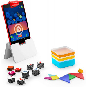 Osmo - Genius Kit for Fire Tablet - 5 Hands-On Learning Games - Ages 5-12 - Problem Solving and Creativity - STEM - (Osmo Fire Tablet Base Included - Amazon Exclusive)
