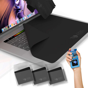 CLEAN SCREEN WIZARD Microfiber Keyboard Covers Protector Cloths/Screen Imprint Screen Protector Cleaner Kit, Bundle Screen Cleaning Cloths and Sticker for MacBook Pro 13, 13in Laptops