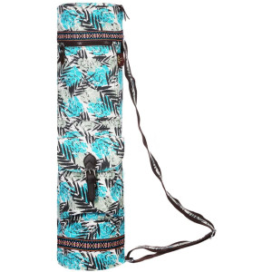 Heathyoga Yoga Mat Bag Full-Zip Exercise Yoga Mat Carry Bag - Multi-Functional Inner/Outer Storage Pockets and Adjustable Shoulder Strap - 28 X 7 Yoga Bag Fits Most Yoga Mat Sizes