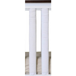 PURE SAFETY Vertical Crib Liners in True White Cotton 2 Pcs