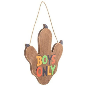 Boys Only Dino Paw Wood Wall Decor Room Kids Decoration