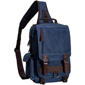 El-fmly Messenger Sling Bag Crossbody Shoulder Backpack Outdoor Travel Sport Laptop for Men