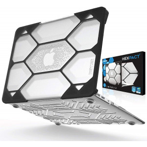 IBENZER Hexpact MacBook Air 11 Inch Case A1370 A1465, Heavy Duty Protective Hard Shell Case Cover for Apple Laptop Mac Air 11, Clear, HA11CYCL