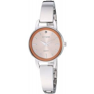 Citizen Women's Quartz Stainless-Steel Strap, Silver, 9.7 Casual Watch (Model: EZ6370-56X)